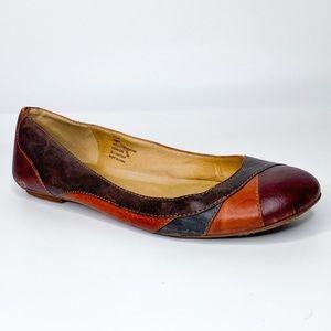 Frye Molly Piecework Leather Ballet Flats